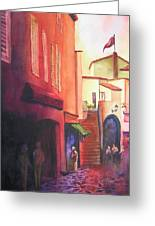 Flag Over St. Tropez Greeting Card