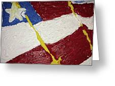 Flag Section Greeting Card