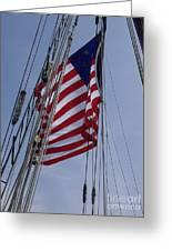 Flag Tall Ship Greeting Card