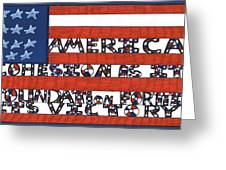Flag Two Greeting Card