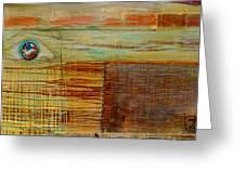 Flag With Guns 09 Greeting Card