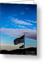 Flag With The Clouds Greeting Card