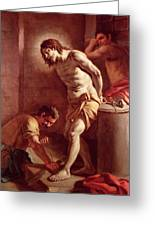 Flagellation Of Christ Greeting Card by Pietro Bardellini