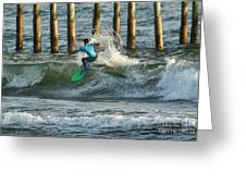 Flagler Beach Surf Day Greeting Card