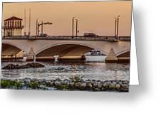 Flagler Bridge In The Evening IIi Greeting Card