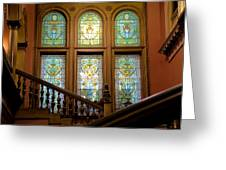 Flagler College Stained Glass Greeting Card
