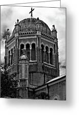Flagler Memorial Presbyterian Church 3  B-w Greeting Card