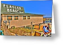 Flagler Pier Postcard Greeting Card