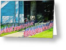 Flags Along The Walkway Greeting Card