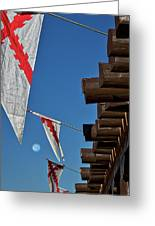 Flags At The Palace Of Governors Greeting Card