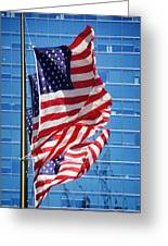 Flags Flying Greeting Card