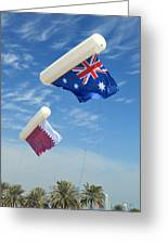 Flags Over Doha For The Asian Cup Greeting Card