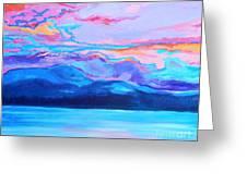 Flagstaff Lake Winter Sunset Greeting Card