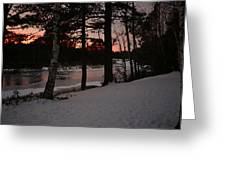 Flambeau Sunset Greeting Card