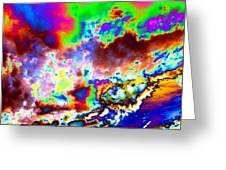 Flamboyant Cloudscape Greeting Card