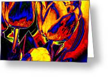 Flamboyant Tulips Greeting Card