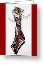 Flame Dancer Greeting Card