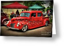 Flame Hot Truck Greeting Card