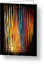 Flame Lines Greeting Card