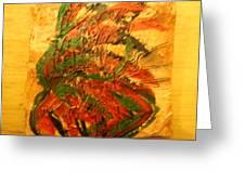 Flamenco Flame - Tile Greeting Card