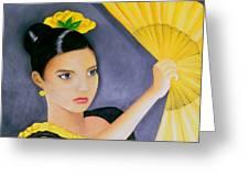 Flamenco Girl Greeting Card
