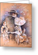Flamenco Group Greeting Card