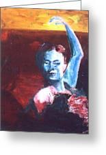 Flamenco Seco Greeting Card by LB Zaftig