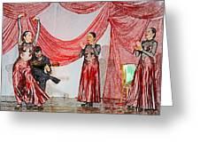 Flamenco Show Nr 4 Greeting Card