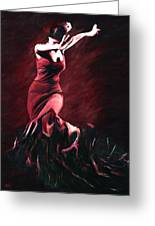 Flamenco Swirl Greeting Card