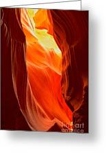 Flames At Upper Antelope Greeting Card