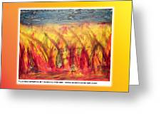 Flames Inferno On A Nice Background - Postcard Greeting Card