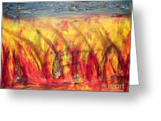 Flames Inferno Greeting Card