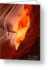 Flames Under The Arizona Desert Greeting Card