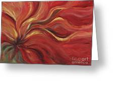 Flaming Flower Greeting Card by Nadine Rippelmeyer