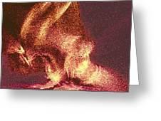 Flaming Gargoyle Greeting Card