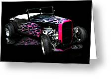 Flaming Hot Roadster  Greeting Card