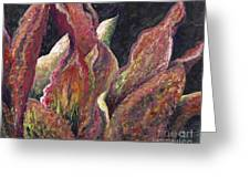 Flaming Leaves Greeting Card
