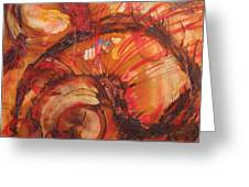 Flaming  Red Shell Greeting Card