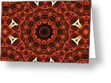 Flaming Ribbons And Trumpets Greeting Card
