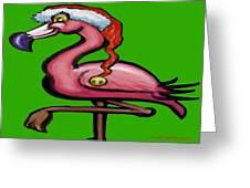 Flamingo Christmas Greeting Card