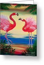Flamingo Courtship Dance Greeting Card