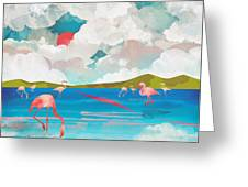 Flamingo Dream Greeting Card