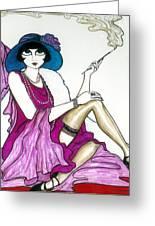 Flapper Girl 4 Greeting Card