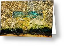 Flash Of Emerald Greeting Card