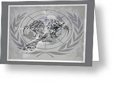 Flat Earth Flag Greeting Card