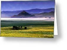 Flat Lands Of Kunming Greeting Card
