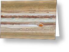 Flat Map Of Jupiter Greeting Card