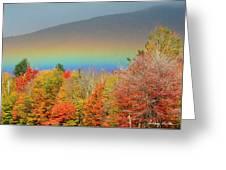 Flat Rainbow Greeting Card