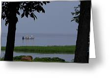 Flat Water Fishing Greeting Card