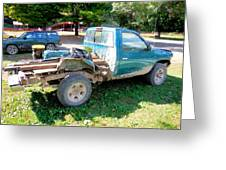 Flatbed Truck Greeting Card
